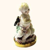 Exquisite Ceramic Pendant/Breloque Angel with Integral Seal, mid-18th Century