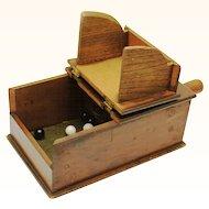 American Masonic Black Ball Ballot Voting Box, with balls, late 19th Century