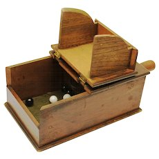 American Masonic Black Ball Ballot Voting Box, with balls, late 19th Century