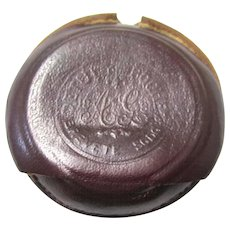 Protective Leather Carrying Case for a Pocket Watch, French Patent, 19th Century