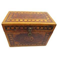 Intriguing Inlaid Portable Tibetan Medicine/Herbal Chest/Box, 19th Century