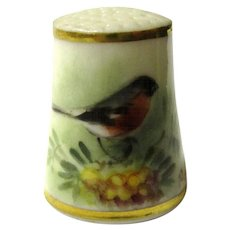 Lovely Royal Worcester Robin Thimble, Signed Powell, c1935