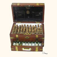 Fully Fitted Homeopathy Box/Apothecary Cabinet, Maker Henry Turner & Co, London, 19th Century