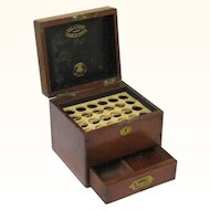 Classic Mahogany & Brass Homeopathic/Apothecary Box, Henry Turner & Co., late 19th Century