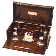 Satisfying Oak Writing Box, Australian, c1934