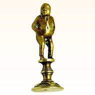 Pipe Tobacco Tamper Cast Brass Man