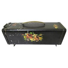 Shabby Chic Decorative Painted Toleware Bread Box