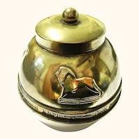 Brass Lipton's Souvenir Tea Caddy, British Empire Exhibition 1924