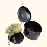 Fitted Complete Legal Wig, Stand & Tole Box by Renowned Maker, English, c1860
