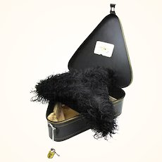 Extraordinary Alderman's Ostrich Hat with Original Tole Box, London, England, 19th Century