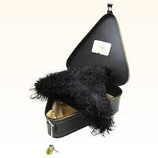 Extraordinary Alderman's Ostrich Hat with Original Tole Box, London, England, 19th Century