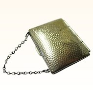Silver Metal Coin Purse for Doll or Chatelaine, late Victorian