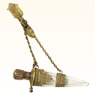 Fascinating Dagger-form Chatelaine Perfume Bottle, c1876