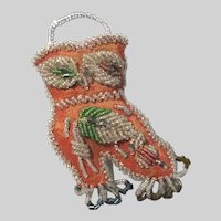 Old Iroquois Beaded Boot Wall Pocket Small Size