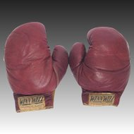 Vintage Children's Boxing Gloves - All Leather by WINNWELL