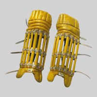 Antique Skeleton Cricket Batting Pads Late 19th Century