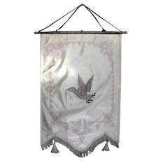 Vintage Odd Fellows Banner Rebekah Peace Dove