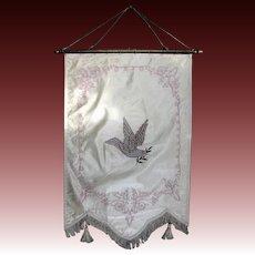 Vintage Odd Fellows Banner Rebekah Peace Dove