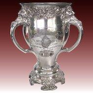 Art Nouveau Sports Trophy NATIONAL & Newark German Athletic Clubs 1908