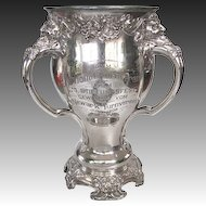 Art Nouveau Sports Trophy NATIONAL & Newark German Athletic Clubs 1908