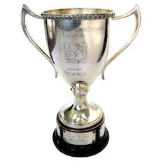 Telephone Switchboard Operator Trophy - Vintage Silver Telephone Trophy Cup
