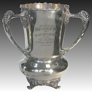 Antique Silver Trophy 1904 - Met Life Insurance Co. Mt. Vernon District NY