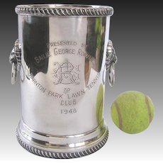 Silver Lawn Ladies Tennis Trophy Barton Park Scotland 1948