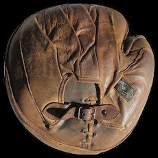 Old Rawling Catcher's Mitt Early Label