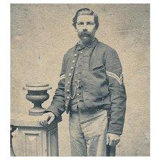 Civil War CDV Unidentified Union Soldier - Corporal Chevrons