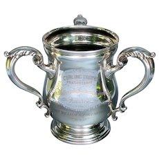 Antique Sterling Curling Trophy Walkerville Brewing Company c 1899