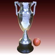 Vintage Agricultural Silver Trophy 1938 Calf Club Trophy