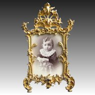 Antique Gilded Bronze Frame Patented 1894 Baroque Style
