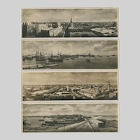 Panorama Photo Post Cards of Tripoli, Libya under Italian Occupation 1934.