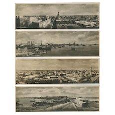 Panorama Photo Post Cards of Tripoli, Libya under Italian Occupation 1934.