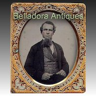 Ambrotype Gentleman 6th Plate Grumpy Expression