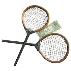 Antique Childrens Badminton Rackets c1850 Kids Racquets
