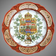 Wedgwood Plate Coat of Arms  - Dominion of Canada 1910