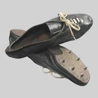 Vintage Leather Spiked Track Shoes Sprint Track and Field