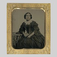 California Girl Tintype in Eickmeyer Patent Case 1855