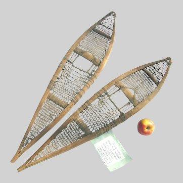 Antique Inuit Snowshoes Child's Size c1900