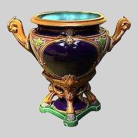 MINTON MAJOLICA Urn Date code1873 - Antique Majolica Jardiniere
