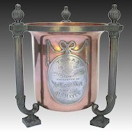 Antique Steeplechase Trophy 1911 - Copper and Pewter Trophy Cup by Pairpoint