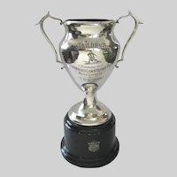 Old Tennis Trophy Tillsonburg Lawn Tennis Club 1939 Tip Top Tailors Trophy
