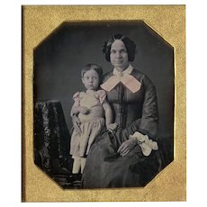 Little Girl Granny Daguerreotype - Tinted 6th Plate Dag