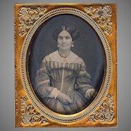 Daguerreotype Fashionable Lady c 1855 - 6th plate