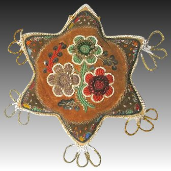 Antique Iroquois Star Pin Cushion Whimsy