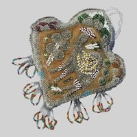 Native Beaded Pin Cushion with Camel UNUSUAL