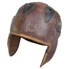 Vintage Spalding Leather Football Helmet