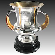 Sterling Silver Boar Tusk Sporting Trophy - Toronto Quoiting Club Competition c1890