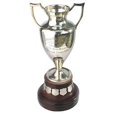 Vintage Silver Sports Trophy Large Duck Pin Bowling Liquid Social Club
